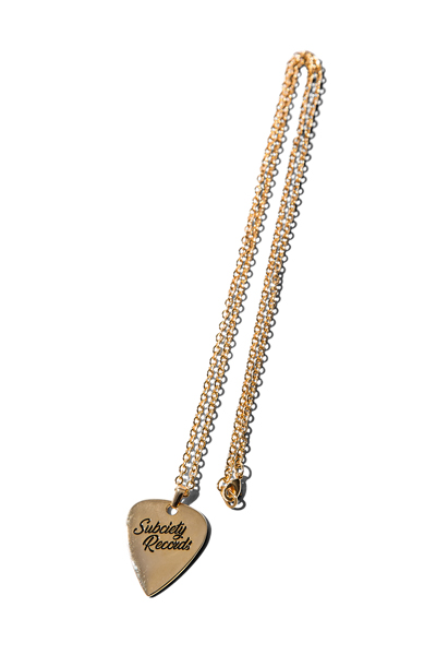 Subciety (サブサエティ) METAL NECKLACE-VYNYL- GOLD