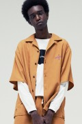 Subciety (サブサエティ) DROP SHOULDER SHIRT ORANGE