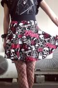 ROB ZOMBIE×KILL STAR CLOTHING Baby Death Skater Skirt