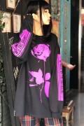 【ゲキクロ限定】GoneR (ゴナー) Rose Logo L/S T-Shirts Black/Purple