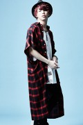 Zephyren(ゼファレン)LONG CHECK SHIRT S/S RED