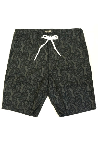 Zephyren (ゼファレン) PAISLEY SHORTS BLACK