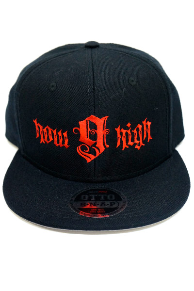 NineMicrophones SNAPBACKCAP-how high- BLACK-RED