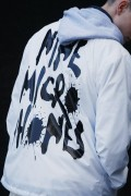 NineMicrophones COACH JACKET-FAINT- WHITE