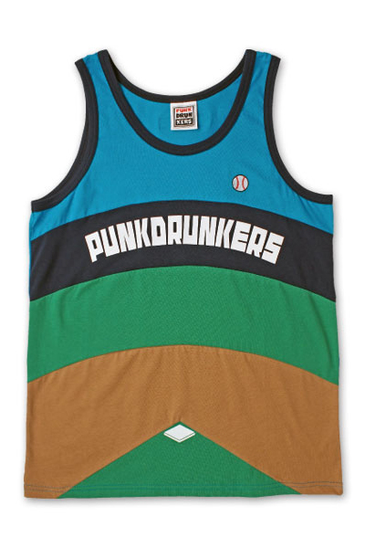 PUNK DRUNKERS 野球タンク BLUE