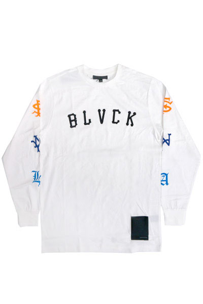 BLACK SCALE ALL CITY LONGSLEEVE T-SHIRT WHT