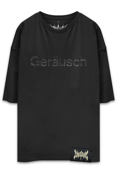 UNUSUAL Geräusch OVERSIZED T-SHIRT BLACK × BLACK