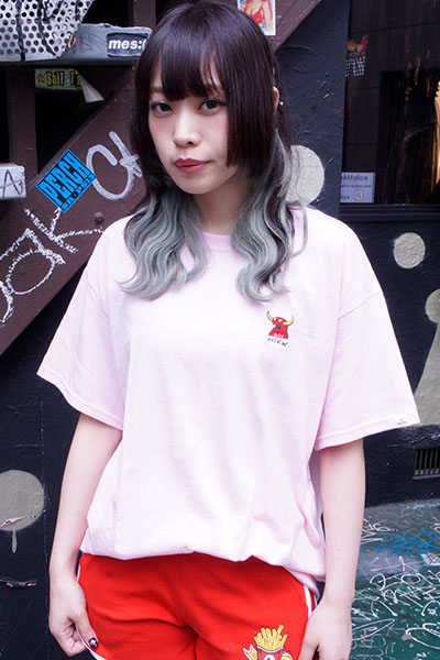 TOY MACHINE TMS19ST1 MONSTER MARKED EMBROIDERY SS TEE PINK