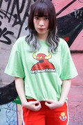 TOY MACHINE TMS19ST10 TOYMONSTER LOGO PRINT SS TEE LIME