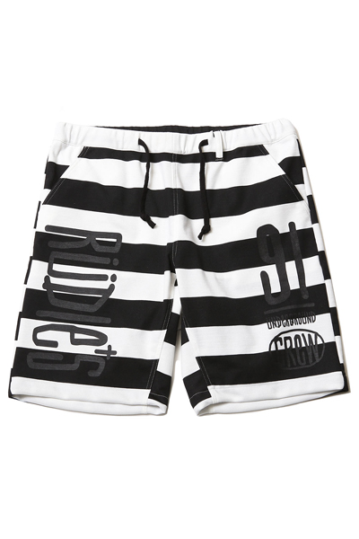 RUDIE'S 85001 DRAWING BORDER SHORTS BLACK/WHITE
