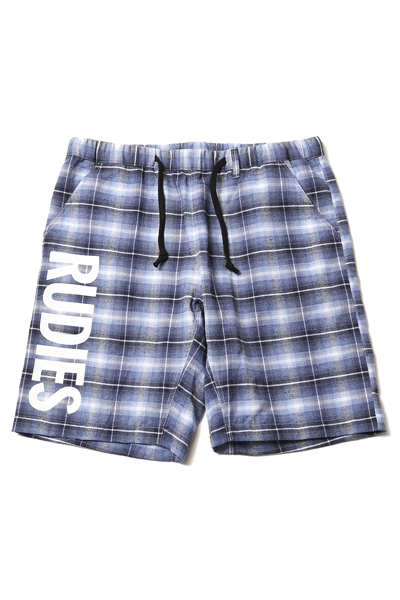 RUDIE'S 85004 PAISLEY CHECK SHORTS BLUE