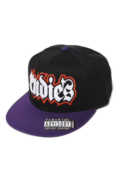 RUDIE'S HD0659 SPARK SNAPBACKCAP BLACK/PURPLE