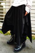 CIVARIZE【シヴァーライズ】Acuate シャーリング変形デザインスカート BLACK