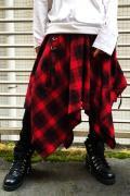 CIVARIZE【シヴァーライズ】Acuate シャーリング変形デザインスカート RED