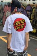 SANTA CRUZ CLASSIC DOT CHEST REGULAR S/S T-SHIRT WHITE