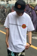 SANTA CRUZ CLASSIC DOT REGULAR S/S T-SHIRT WHITE
