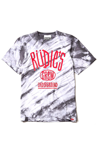 RUDIE'S DRAWING DYED TEE T.STR
