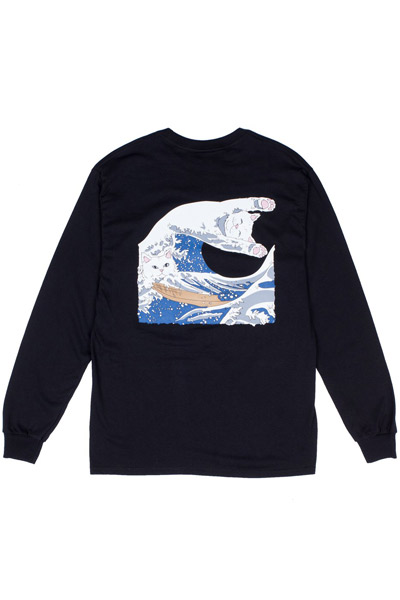 RIPNDIP The Great Wave Of Nerm L/S Tee (Black)