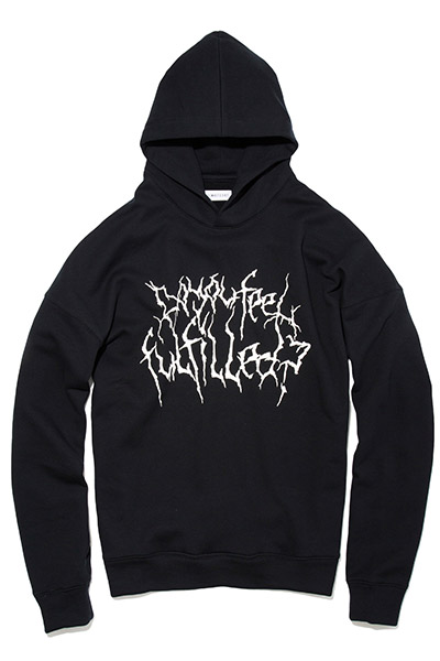LILWHITE(dot) (リルホワイトドット) -VAIN- EXTRA OVERSZED HOODIE BLACK/WHITE