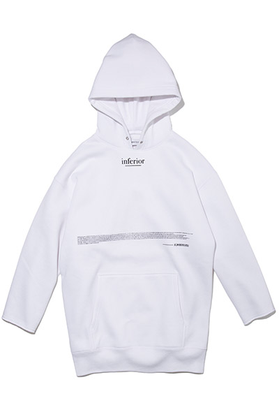 LILWHITE(dot) (リルホワイトドット) -INFERIOR- Q/S SIDE ZIP HOODIE WHITE