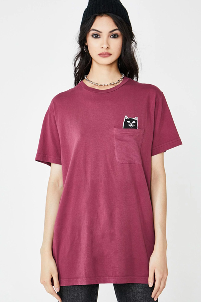 RIPNDIP Lord Jermal Pocket Tee (Wine)