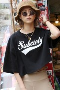 Subciety (サブサエティ) 【WOMENS】BIG TEE-GLORIOUS- BLACK