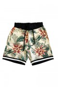 ROLLING CRADLE FLORAL SHORTS / White