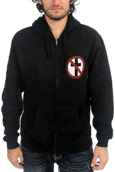 BAD RELIGION Crossbuster Zip Up Hood