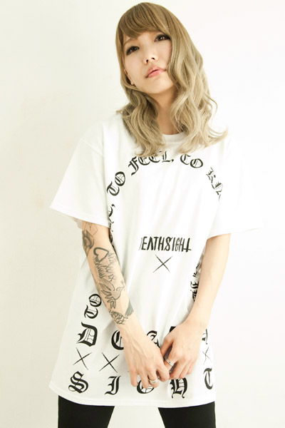 deathsight	grave tees WHITE