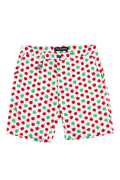 ROLLING CRADLE APPLE SHORTS / White