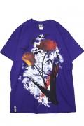 GoneR GR21CT003 Bat Rose T-Shirts Purple