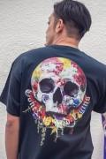 GoneR GR21CT004 Rose Earth Skull T-Shirts Black