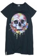 GoneR GR21LD002 Rose Earth Skull T One-Piece Black