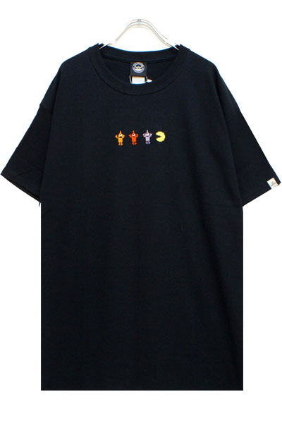 TOY MACHINE PTM19ST01 PACMAN GAME OVER SECT EMBRO ST BLACK