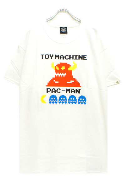 TOY MACHINE PTM19ST02 PACMAN TOYMONSTER ST WHITE