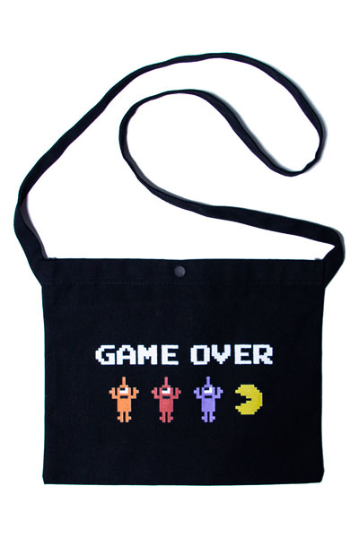 TOY MACHINE PTM19BG08 PACMAN GAMEOVER SECT BAG BLACK