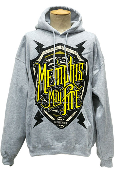 MEMPHIS MAY FIRE Shield Heather Hooded
