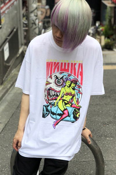 MISHKA SP181308 DEATH FROM ABOVE TEE WHITE