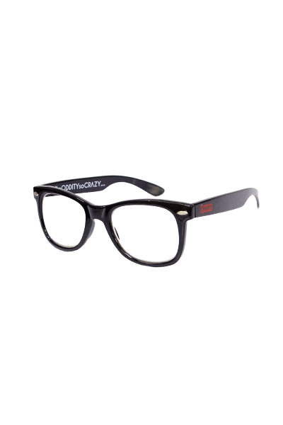 SQUARE CLEAR LENS SUNGLASS BLACK