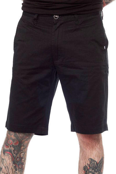 REBEL8 WORK SHORTS BLACK