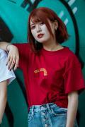 GoneR GR29CTW001 GoneR × PICTURE MOUSE Collavoration T-Shirts Gardenal Red
