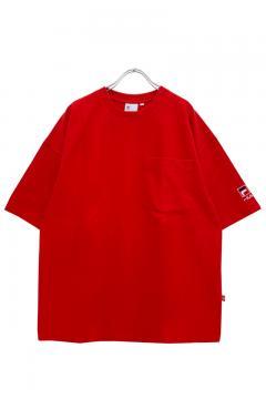 FILA FFM9802 ユニセックス クルーネックシャツ RED