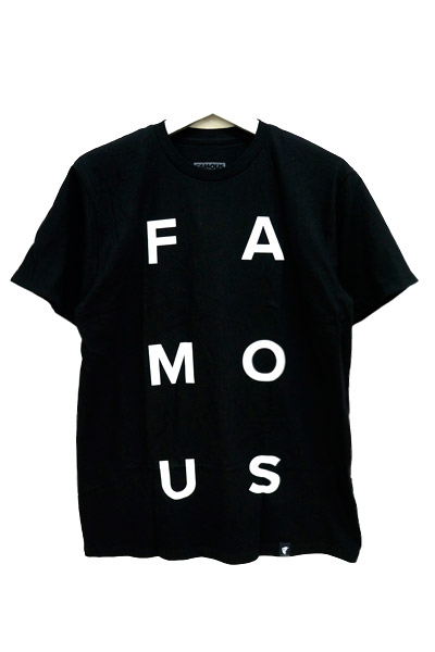 FAMOUS STARS AND STRAPS (フェイマス・スターズ・アンド・ストラップス) STACKED TEE BLK