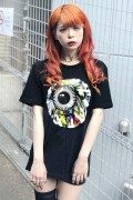 MISHKA (ミシカ) MAW170006 COLLAGE KW T-SHIRT BLACK