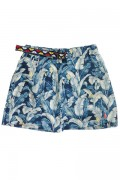 ROLLING CRADLE OVER GROW SHORTS / Blue