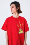 TOY MACHINE TMP19ST27 TRANSMISSIONATOR LOGO SS TEE - RED
