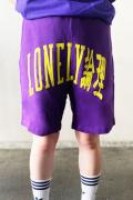 LONELY論理 LONELY UNIV SWEAT SHORTS purple