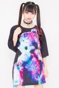 TRAVAS TOKYO【トラヴァストーキョー】フロントアップビッグクマTシャツ Black