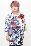 TRAVAS TOKYO【トラヴァストーキョー】グラフィック総柄スーパービッグTシャツ White