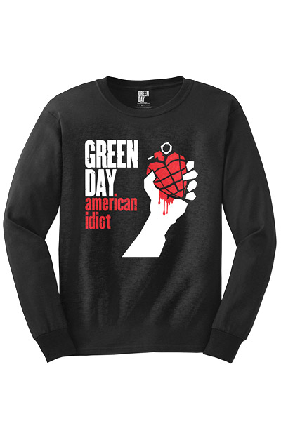 GREEN DAY American Idiot Long Sleeve T-Shirts